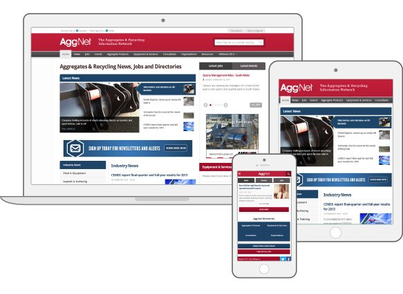 Agg-net large news and resources Drupal responsive website