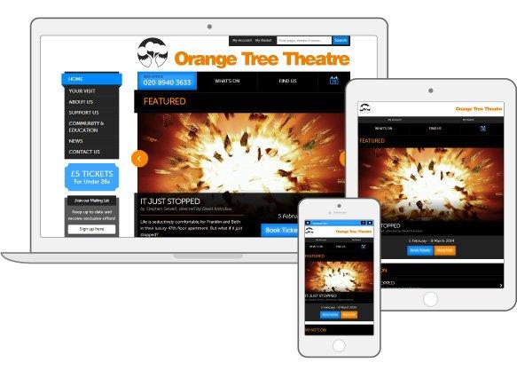 Orange Tree Theatre Website responsive Drupal ticket booking case study